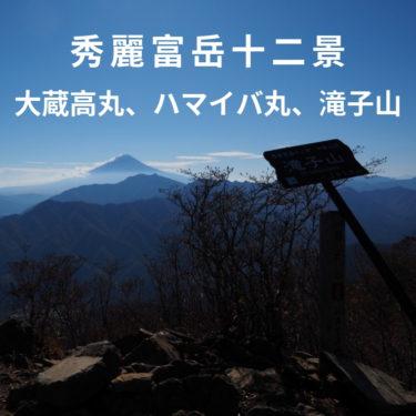 【秀麗富嶽十二景】絶景の富士山と紅葉の景色美しい、大蔵高丸・ハマイバ丸・滝子山縦走