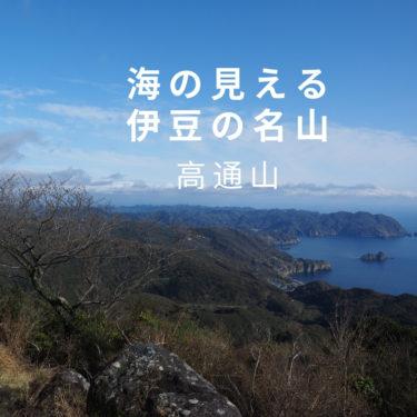 【伊豆】海の展望優れる山、高通山