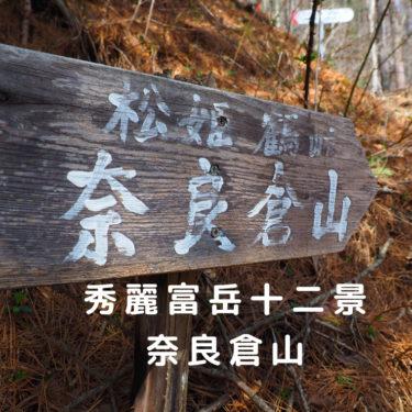 【秀麗富嶽十二景】秀麗富岳で後回しにされやすい存在。西原峠から奈良倉山を歩く。