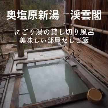 【奥塩原温泉 新湯 渓雲閣】硫黄のにごり湯と部屋出しの宿『貸し切り風呂あり』