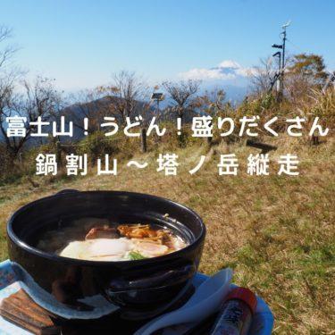 【丹沢】出来たて鍋焼きうどんと富士山の絶景、そしてさよならクリステル。鍋割山〜塔ノ岳縦走
