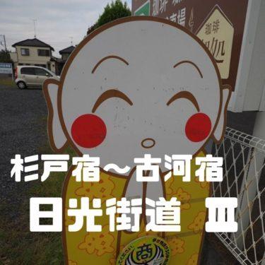 【日光街道Part3】杉戸宿~古河宿を歩く。宿泊でいく日光街道2日目