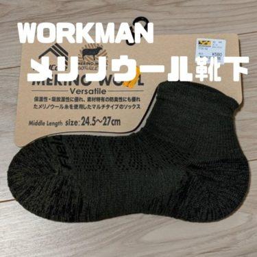 ワークマンのメリノウール靴下を買ってみた。登山では使える??
