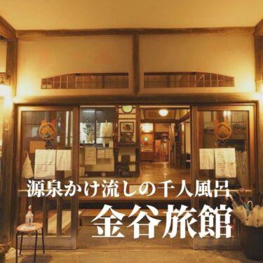 【伊豆】大開放の総ヒノキ内風呂。仙人風呂の金谷旅館に泊まる